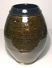Medieval Green & Temmoku Hakeme Vase