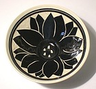 Black & White Plum Blossom Tebori Rice-Bowl