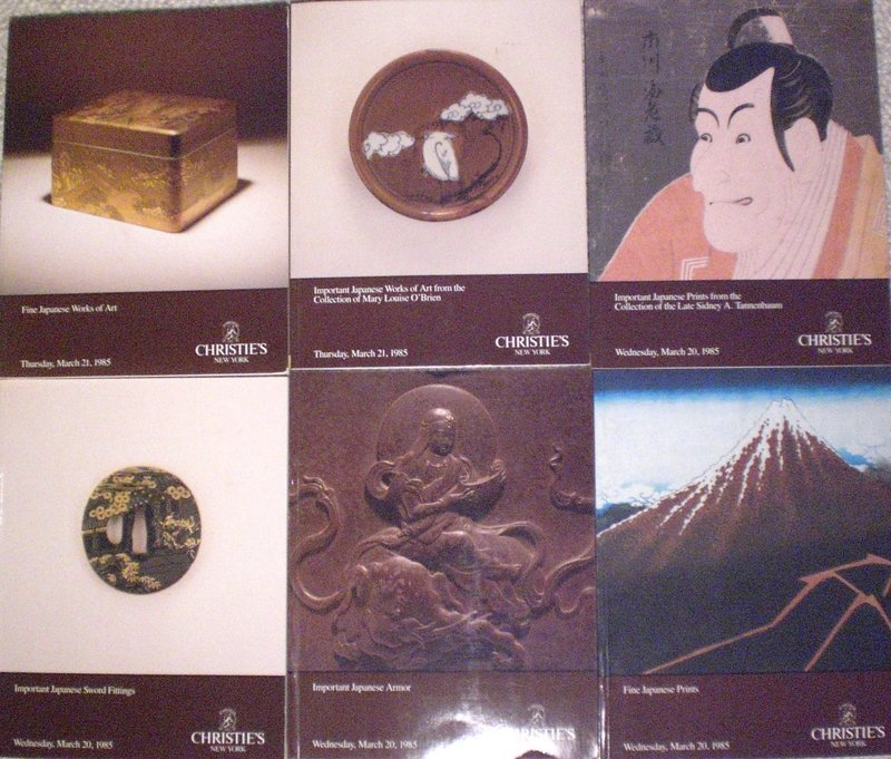 Important Boxed Group Of Auction Catalogues