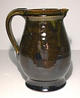 Medieval Green & Temmoku Small Pitcher