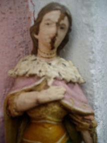 Spanish Colonial Santo St Cath of Egypt 19thc Uruguay