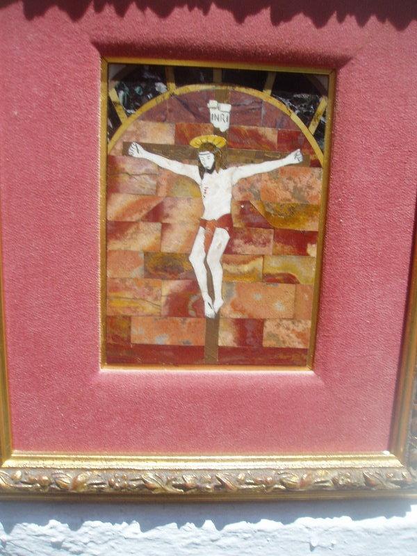 Italian Crucifix in Petra Dura Florentine