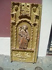 Spanish Colonial Lge Gilt Carved Wood Panel  17thc