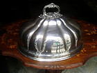 Antique English Silver Plate Turkey Dome