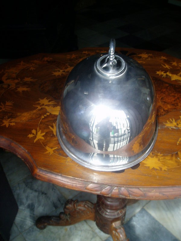 Antique English Silver Plate Turkey Dome