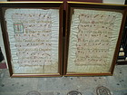 Pr Framed Lge Vellum Missal Sheets 17thc ANTIPHONY
