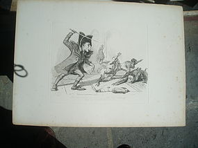 19thc English Etching Monkeyana T. Landseer 1827 Lstd