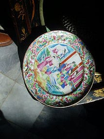 Chinese Porcelain Rose Medallion 8 in Plate1860
