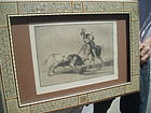 Goya Etching Tauromaquia 6th Ed. MOP Frame Spanish