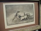 Goya Engraving Tauromaquia 6th Ed. MOP Frame Spanish