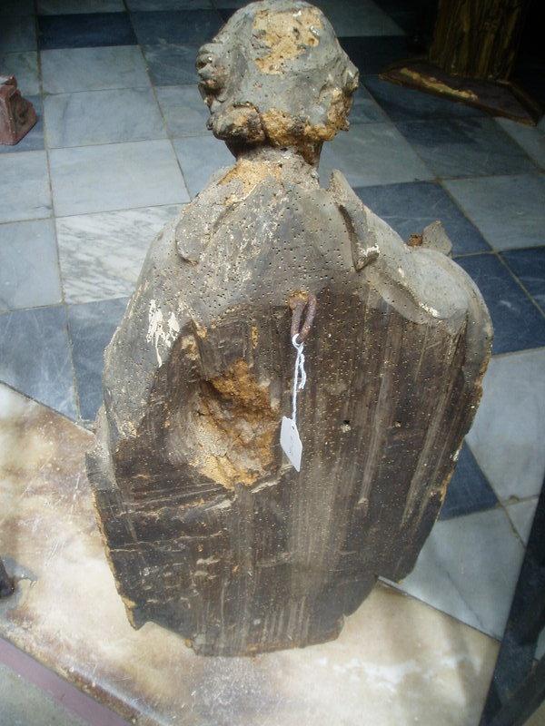 Gothic Male Saint Sculpture 15thc