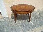 English Inlaid Adam Style Oval Side Table 1910