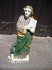 18thc French Faience Figure St John Evangelist