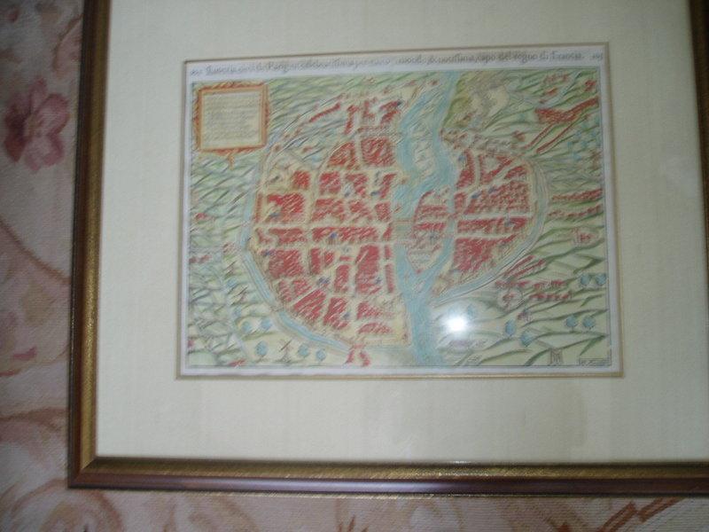 17thc Map of Paris
