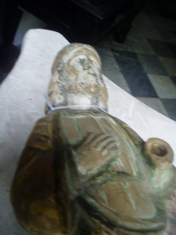 19thc Carved Spanish Colonial Santo Jesus Christ