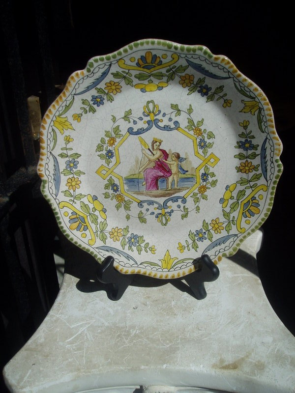 Early 19thc French Fiance Plate