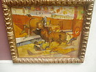Spanish Bullfight Painting ca 1930s