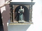 Spanish Colonial St Anthony in Niche 19thc
