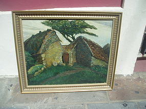 American Oil Painting-Sgnd Lstd Sales ca 1940s