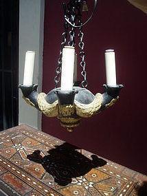 19thc Bronze Roman Style Neo Classic Chandelier