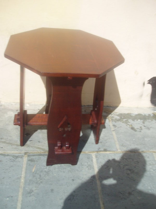 Puero Rican Arts & Crafts Mahogany Side Table