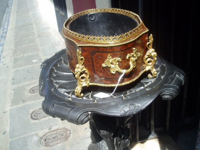 French 19thc Louis XVth Style Marquetery Planter