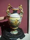 Lge Italian 19thc Glazed Pottery Urn Istoriato