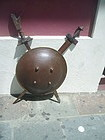 Antique Norwiegian Viking Shield  Two Swords Mounted
