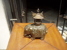 19thc Chinese Bronze censor Elephant Form