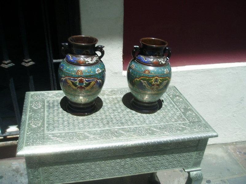 Pr 19thc Bronze Champleve Zogan Jippa Vases Japanese