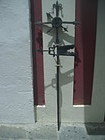 Rare Forged Iron Cross Weather Vane Puerto Rican 18thc