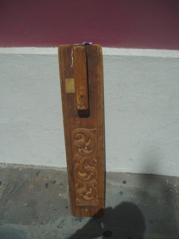 Swedish 19thc Carved Wood Linen Press