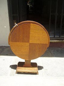 Rare Art Deco Tilt Top Side Table with Label ca 1930s