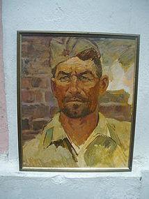 Soviet Russian Portrait Stalingrad sgnd