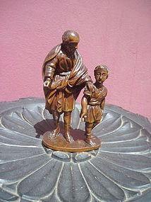 Carved 18thc German Fruitwood Joseph & Jesus