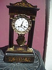 French Empire Inlaid Pedestal Clock Sgnd Ca 1820