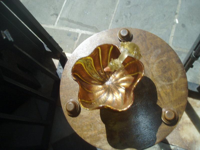 Venetian Murano Glass Sweet Meat Bowl Swan Motif