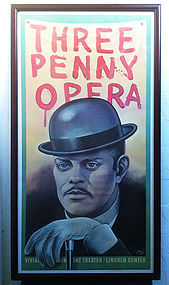 Lithography by Puerto Rican Raul Julia poster framed