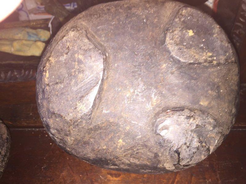 Antique African Carved Wood Medicine Box