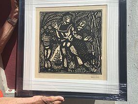 French Woodcut by R. Dufy La Danse Lmtd Ed Sgd