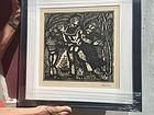 French Woodcut by R. Dufy La Danse Lmtd Ed Sgd