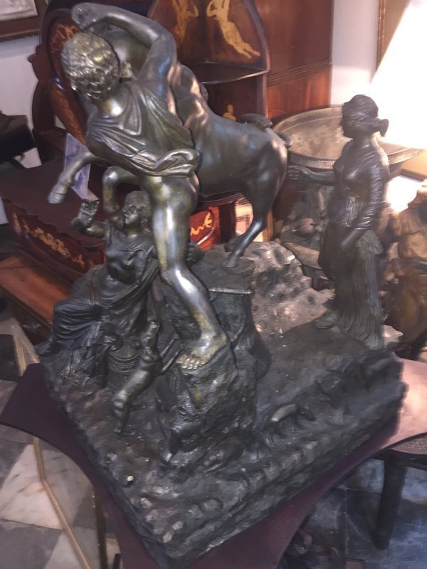 Large Italian Classic Bronze Sculpture Farnese Bull
