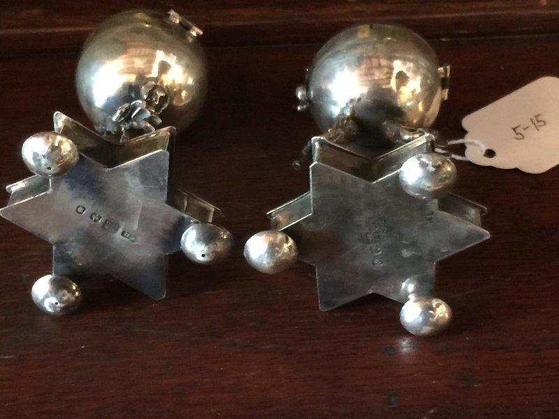 Judaica   Pr Russian Silver Spice Towers Hallmarked 19thc