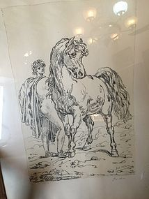 Italian Lithography by Giorgio de Chirico Sgnd Ltmd Ed  Listed