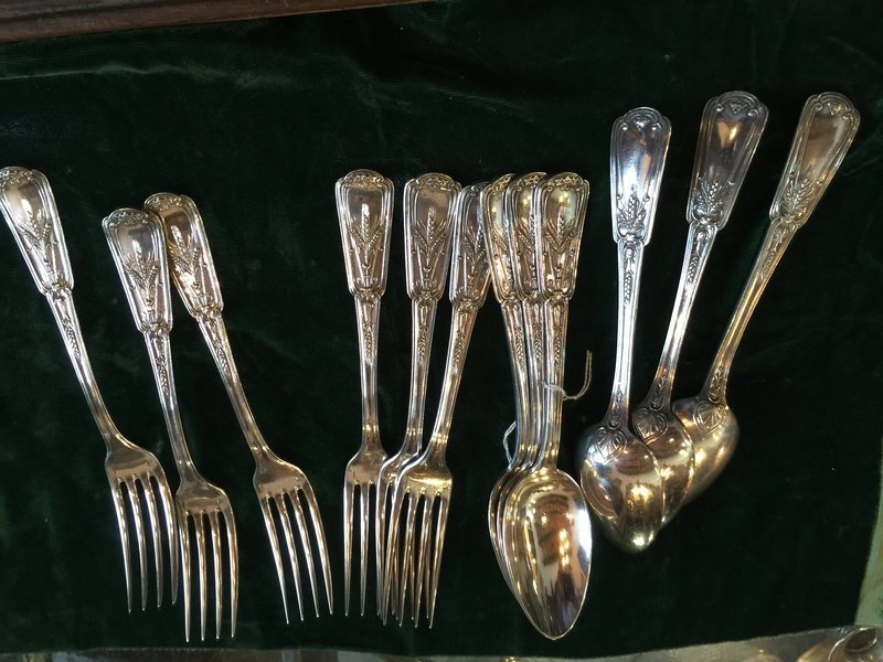 Belle Epoch French Sterling Silver 6  Lge Forks & Spoons