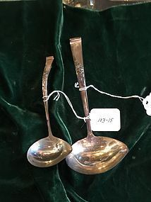 Two Sterling Silver Reed & Barton Sauce Ladles  Classic Rose