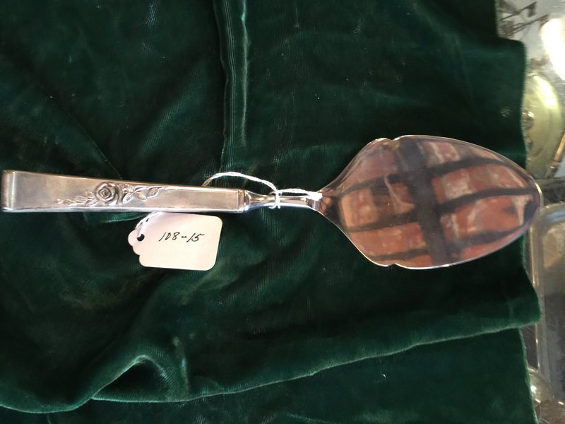 Sterling Silver Tart Server Reed & Barton Classic Rose