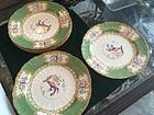 Eight Belle Epoch English Minton  9 inch Luncheon Plates Superb