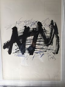 Spanish lithography by Antoni Tapies Ltd Ed listed sales