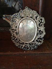 17thc 800 Silver Medallion Baroque Marked European